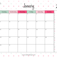 2018 Monthly Printable Calendar –Let's Do This!