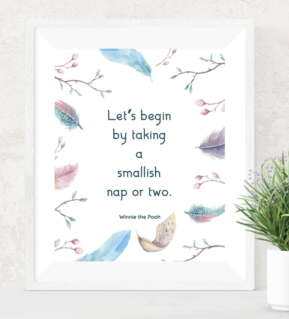 picture about Quote Printable identify Winnie the Pooh Printable Nap Quotation - Real Bliss Strategies