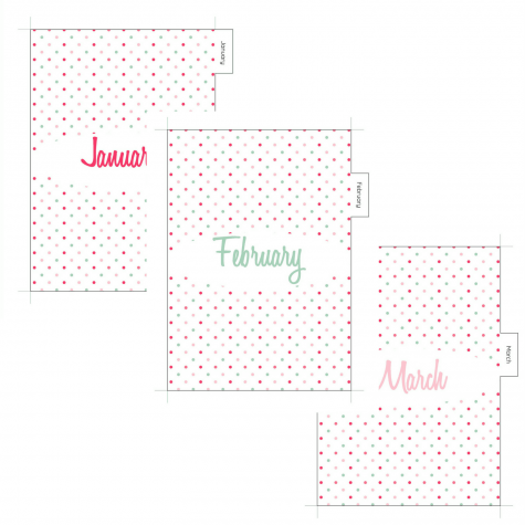 Polka dots Monthly Planner Dividers – Let's Do This!