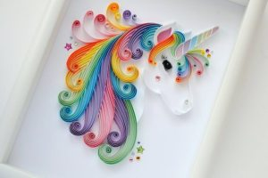 Unicorn Quilling Wall Art