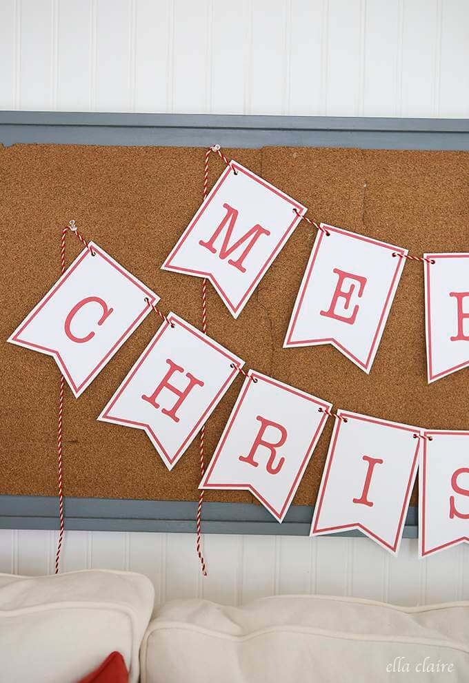 It's just a photo of Exceptional Happy Holidays Banner Printable