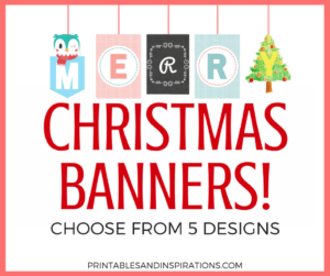 Free Christmas banners in 5 styles.