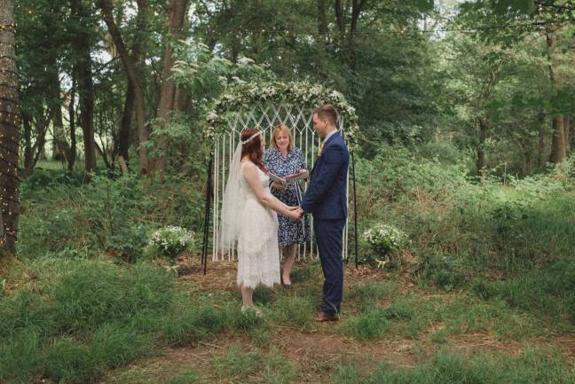 Rebecca Douglas Photographer Kent wedding photography celebrant katie keen true blue ceremonies independent celebrant humanist woodland wedding blessing sussex surrey london garden marquee tipi
