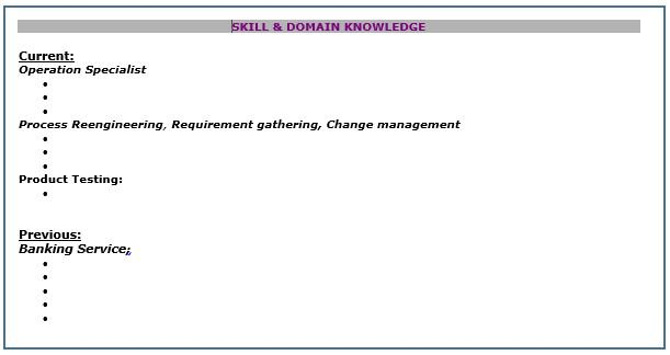 Skills & Domain Knowledge