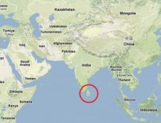 Location of Sri Lanka