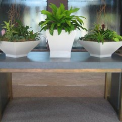 Concrete Kitchen Table Bench Seating Custom Dining Tables Trueform