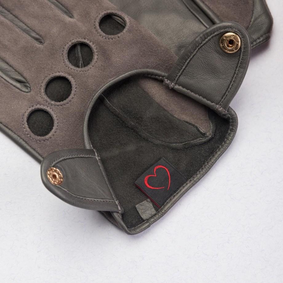 Verdi Schafsleder Autofahrer-Handschuhe Dunkelgrün