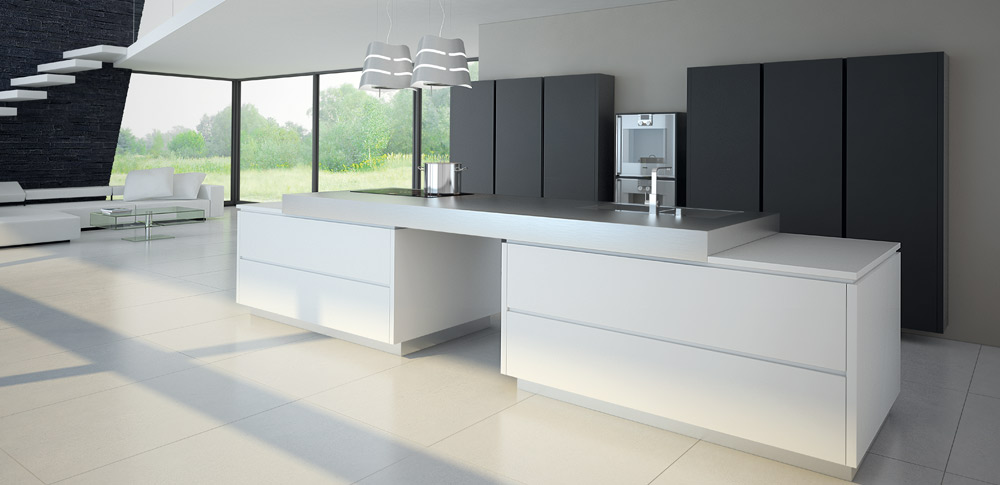 glass kitchen cabinet doors best place to buy island pronorm kitchens - true handleless kitchens.co.uk