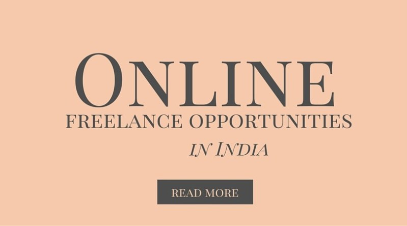 online freelance opportunities in India