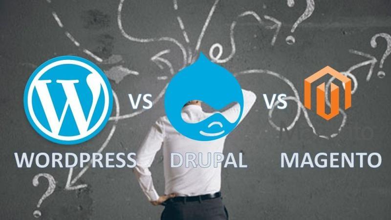 Wordpress vs Magento vs Drupal