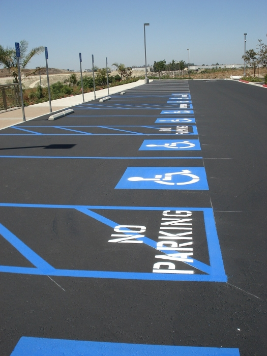 Trueline Handicap Striping  Disabled Parking Lot Markings
