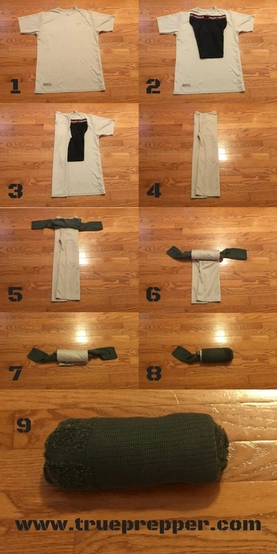 The Skivvy Roll - How to Pack Like a Pro