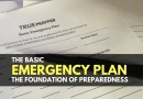 The Basic Emergency Plan – The Foundation of Preparedness