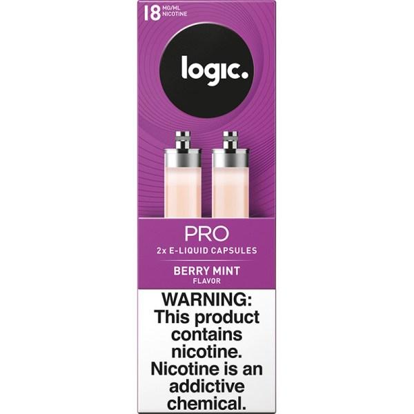 Logic Pro Black Label Berry Mint Capsules True Puffs