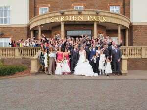 The full group shots on the steps of Carden park