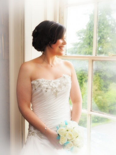 Natural lighting for this beautiful bridal portrait