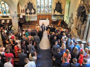The wedding ceremony - stunning shot from the balcony
