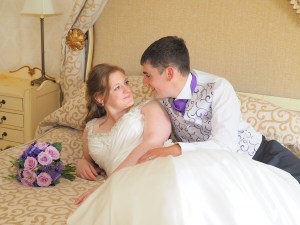In the bridal suite at The Lion Quays Hotel