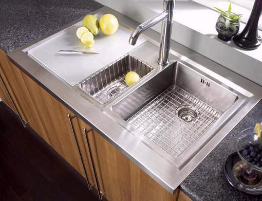 Bistro 15 bowl sit on work centre with left hand drainer