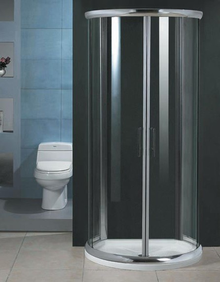 Milano DShaped shower enclosure with slimline shower tray