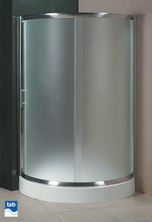 Milano 900x900 quad shower enclosure with single sliding