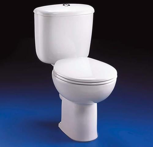 Close Coupled Toilet Push Cistern Fittings  Seat Ideal Standard Studio ISSTUDIOT TrueRoomscom