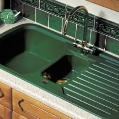 Kitchen Sink Cabinets Comfort Mat 1.5 Bowl Green With Brass Tap & Waste. Rangemaster ...