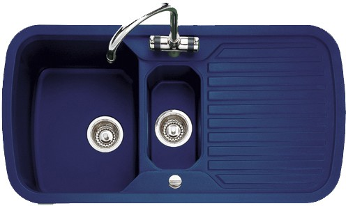 blue kitchen sink design budget 1 5 bowl regal with chrome tap waste rangemaster additional image