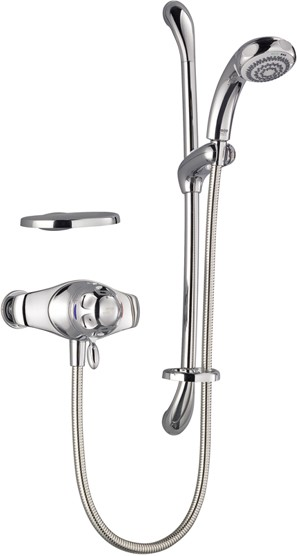 Exposed Thermostatic Shower Kit with Slide Rail in Chrome