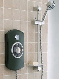 9.8kW Thermostatic Electric Shower With LCD (Black). Mira ...