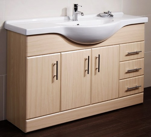 Beech bathroom cabinet
