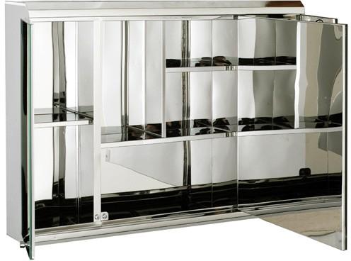 3 Door Mirror Bathroom Cabinet 800x550x130mm Roma
