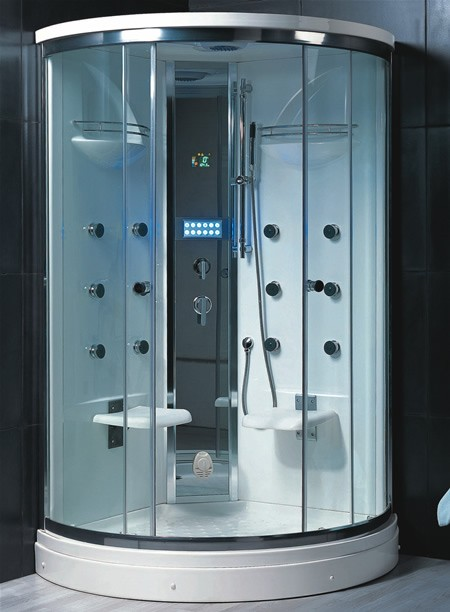 1200x1200 Steam massage shower enclosure for two Hydra