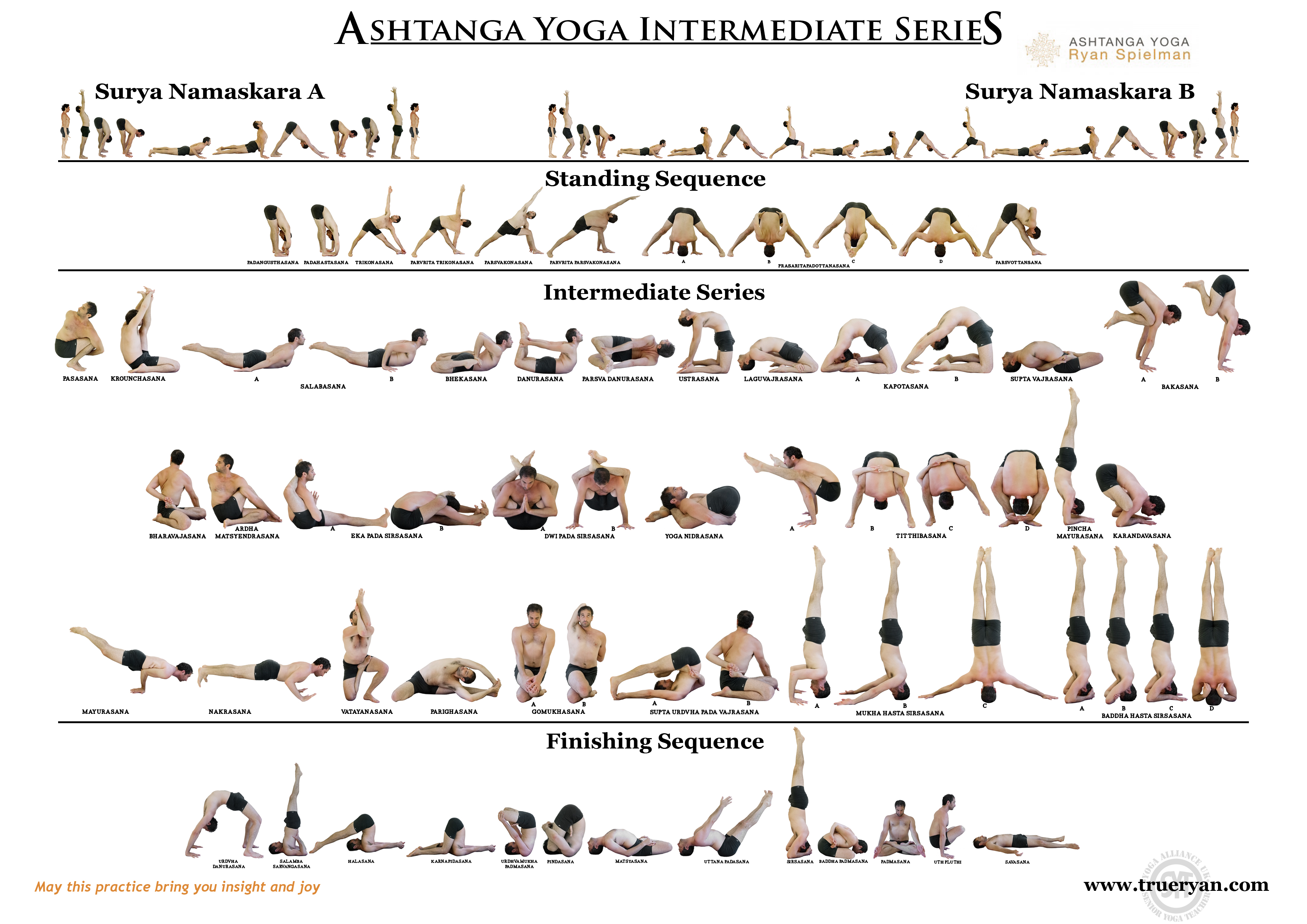 Download The Ashtanga Intermediate Series Chart