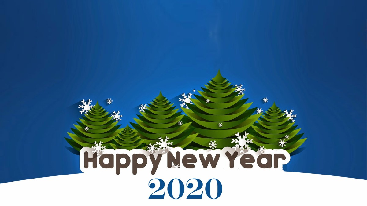 Awesome Happy New Year 2020 Wallpaper
