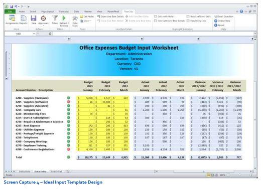 Creating Budgeting Input Templates | True Sky