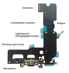 usb lightning charging and headphone jack port dock connector mic flex cable cellular antenna  [ 900 x 900 Pixel ]