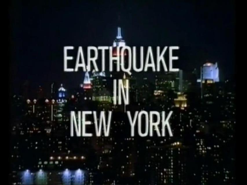 Earthquake in New York TV Movie 1998 Greg Evigan