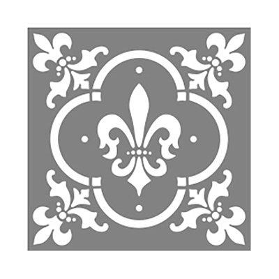 americana decor fleur de lis tile 12 x 12 in