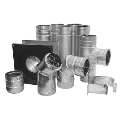 pellet stove chimney venting kit through wall 3 in