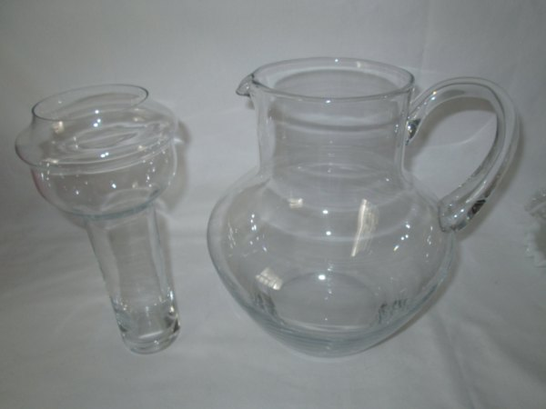Vintage Sangria Pitcher With Ice Fruit Infuser Beautiful