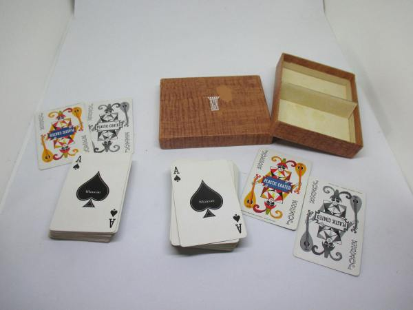 Vintage Playing Cards Whitman Double Deck with Double jokers in each deck purple and green in Kem box