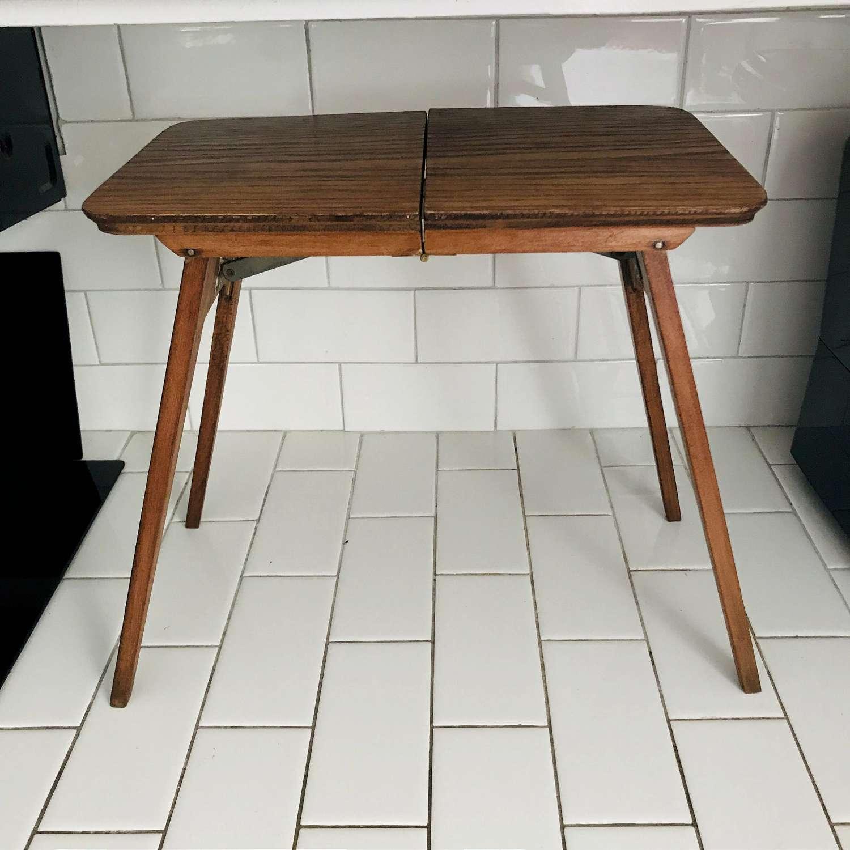 Antique Folding Miniature Table Child S Size Not Dollhouse