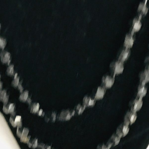 """Vintage Necklace black Onyx 42"""" single or double strand beaded jewelry hand strung"""