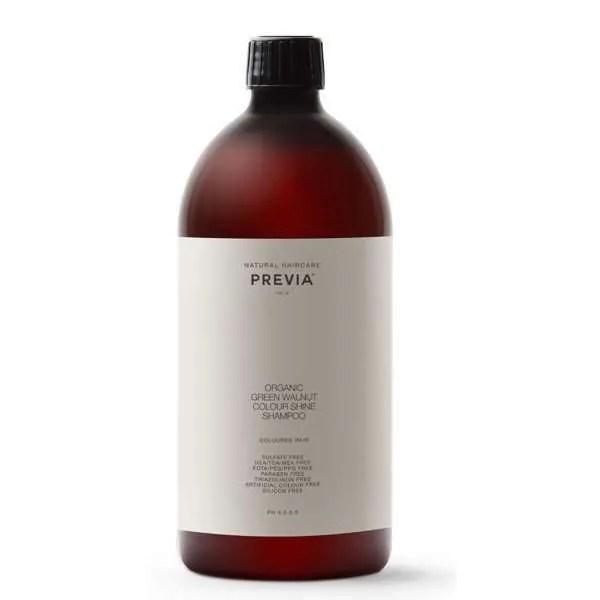 Previa Green Walnut Colour Shine Shampoo - Шампунь Блеск цвета с органическим экстрактом зеленого грецкого ореха