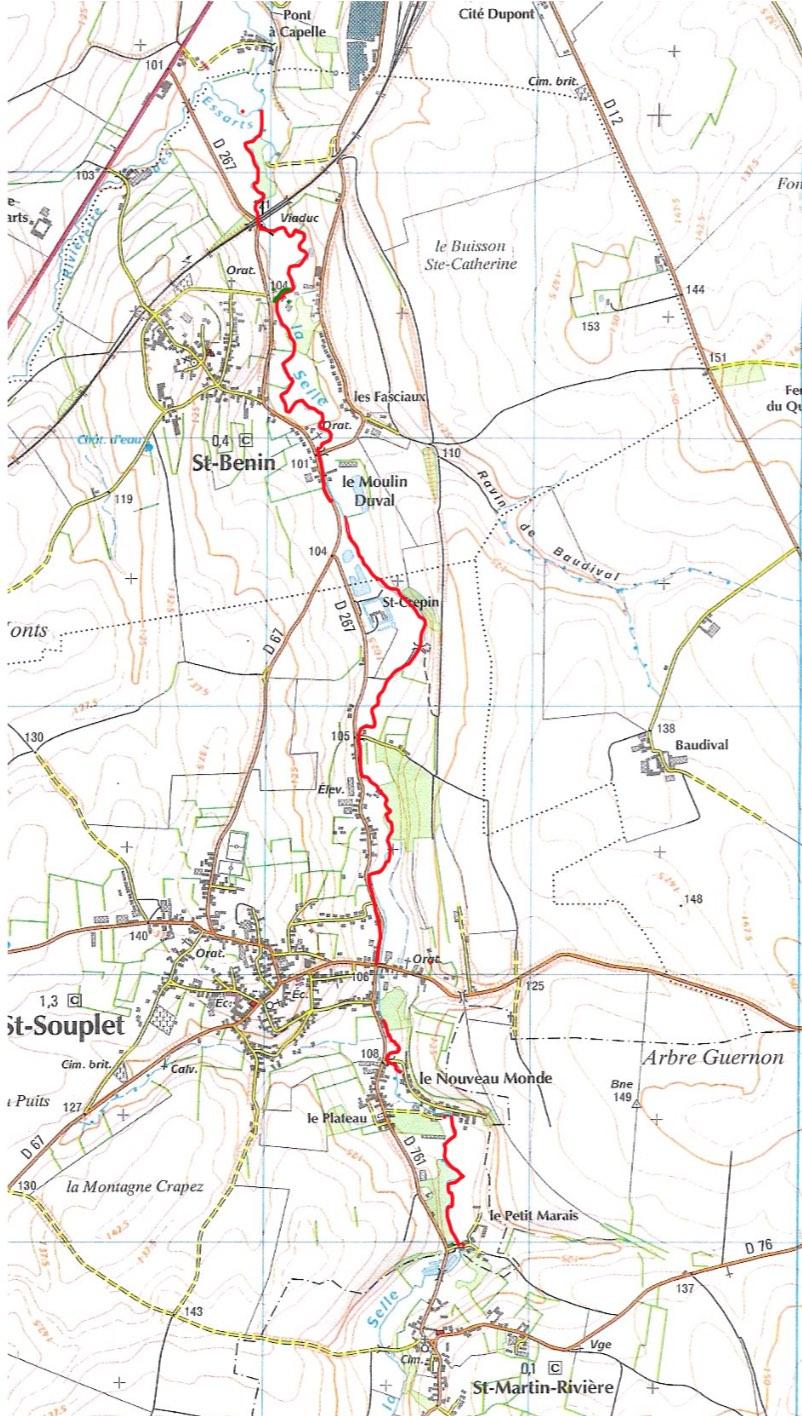 """parcours de l'AAPPMA """"La truite sulpicienne et Béninoise"""