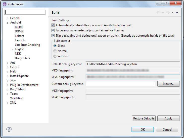 Obtaining SHA1 Fingerprint from Android Keystore - Truiton