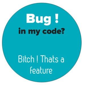 Bug in my code sticker