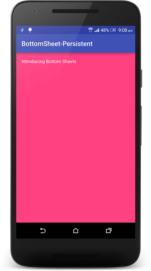 Android Bottom Sheet Example - Truiton