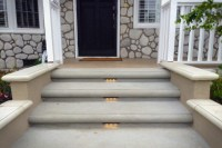 Concrete Entryway Remodel & Landscape Lighting Installation